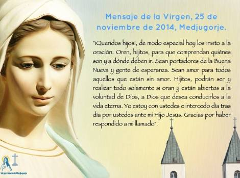 María Medjugorje 25nov14