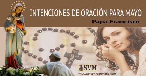 Intenciones del Papa Francisco para Mayo 2016