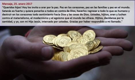 Mensaje de la Virgen de Medjugorje 25 de Enero de 2017